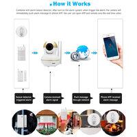 Smart Home Security Start Up Kit (1x Smart IP Camera +1x PIR Sensor +1x Door Sensor +1x Smoke Detector Sensor)