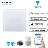 Wifi Smart 3 Gang Touch Switch (Works with Alexa)