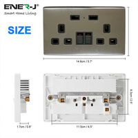 Smart 13A WiFi Twin Wall Sockets with 2 USB Ports (Silver)