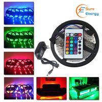 LED Strip Kit- 5 meter RGB IP65, IR remote, Plug & Play UK PS