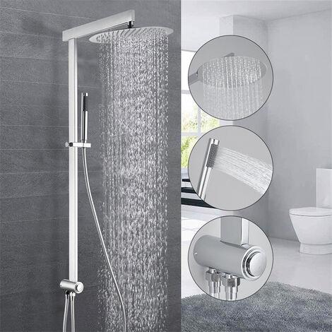 Duschsystem ohne Armatur regendusche Duschset mit Regenbrause, Handbrause und Brausearm, Duschset Wandmontage für Badezimmer