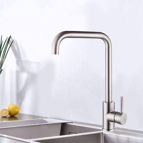360° Küchenarmatur Spültischarmatur Wasserhahn Mischbatterie Anschluss-Schläuche