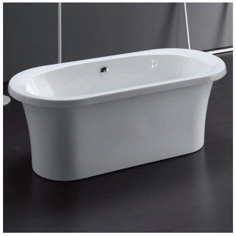 Vasca centro stanza con telaio e pannello frontale con sistema top 175x80 cm aqualife - desiu'