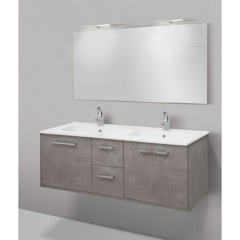 Mobile bagno linea clever 141 cm - global trade - cod. clever141.duo//00