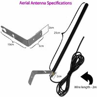 X2 Antenne aerienne universelle pour votre SOMFY LEB TMW4 433.92MHz Fixed Code