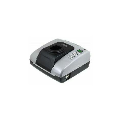 Powery Cargador de batería con USB para taladro Ryobi R10531