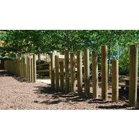 Poste de madera tratado y torneado Ø12x150cm