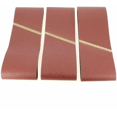 Bandes abrasives 100x610 60gr par 3 pour Ponceuse Bosch, Ponceuse Ryobi, Ponceuse Makita, Ponceuse Hitachi, Ponceuse Holz-her, Ponceuse Wegoma
