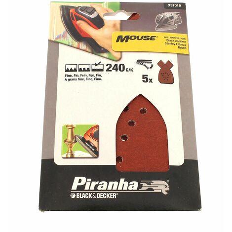 Abrasifs mouse 240g par 5 pour Ponceuse Black & decker, Outil multifonction Black & decker