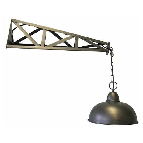 Applique industrielle en métal bronze Brooklyn - Marron