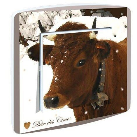 Interrupteur design Vache des Montagnes - Beige
