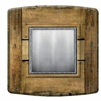 Interrupteur Design imitation métal et bois - Beige