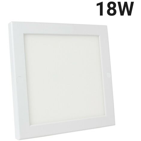 Spot LED 18W carré saillie   Blanc Froid