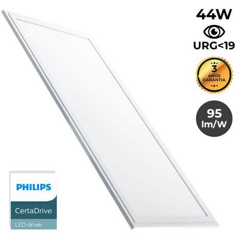 Panneau LED 120X30 42W 3280lm encastrable ultra plat UGR19   Blanc Chaud