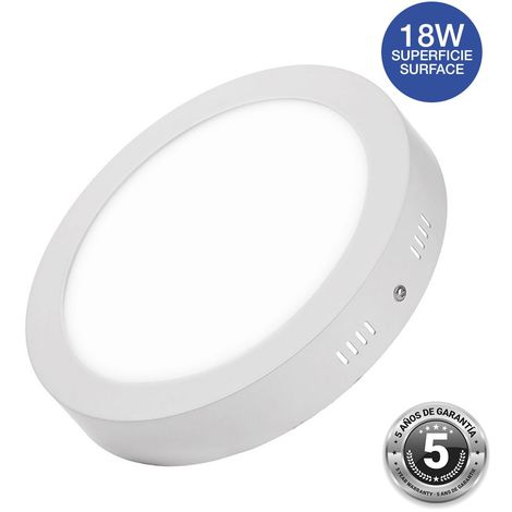 Spot LED 18W saillie rond - 5 ans de garantie   Blanc Chaud