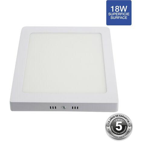 Spot LED 18W saillie carré - 5 ans de garantie   Blanc Neutre