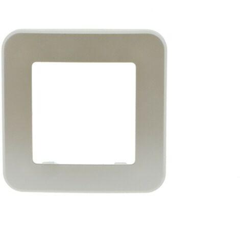 Cadre simple interrupteur/prise encastrable | Ivoire