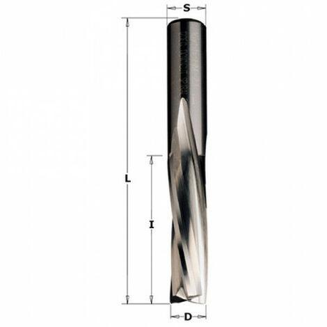 CMT : Fraise 10 mm Longue coupe hélicoïdale négative 3 tranchants - Queue 10 mm