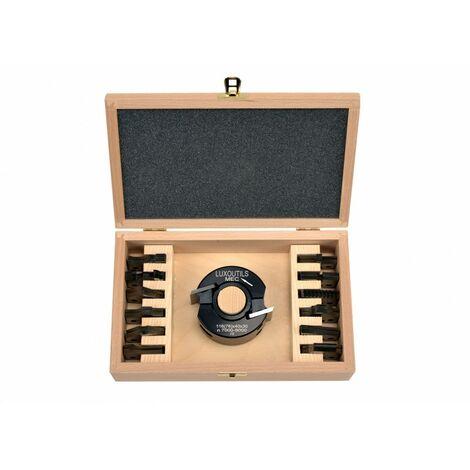 Coffret porte outils 40 mm + 13 jeux de fers toupie arbre 30 mm
