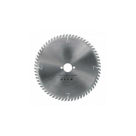 Lame circulaire carbure 250 mm 48 dents coupe propre bois massif