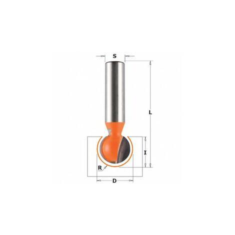 CMT : Fraise spherique rayon 6mm défonceuse 8 mm