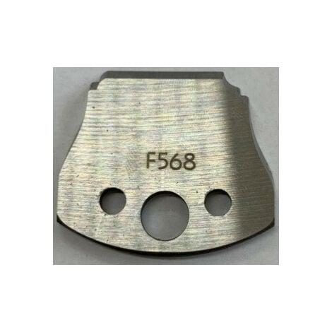 568 : Jeu de fers double plate bande ( 50 x 4 mm ) porte outils toupie