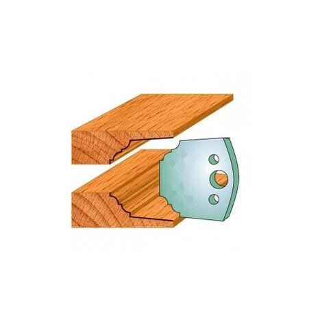 580 : Jeu de fers double plate bande ( 50 x 4 mm ) porte outils toupie