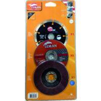 pack disques meuleuse 125 mm béton - inox - métal
