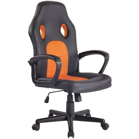 Bürostuhl Elbing-schwarz/orange