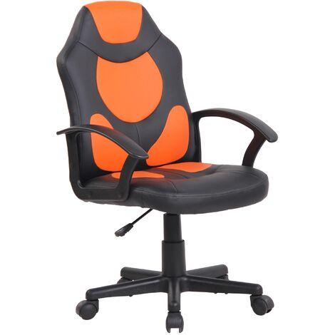 Kinder Bürostuhl Adale-schwarz/orange