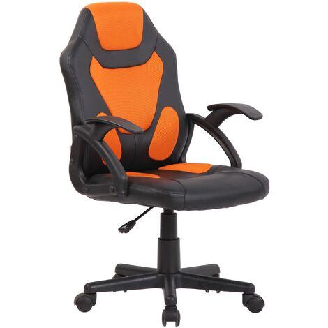 Kinder Bürostuhl Dano-schwarz/orange