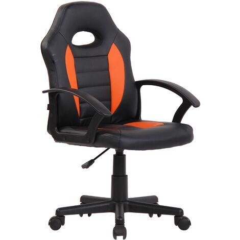 Kinder Bürostuhl Femes-schwarz/orange