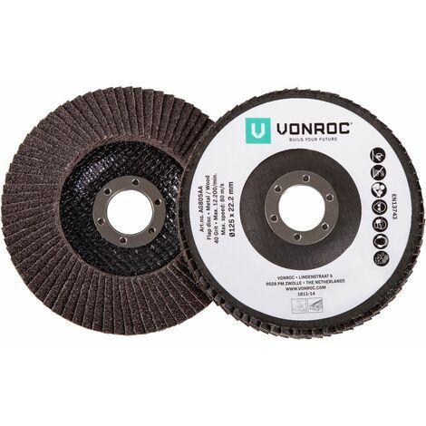 Lot  de disques à lamelles universelles - 2 pièces - K40 & K60 - Ø 125 x 22,2 mm