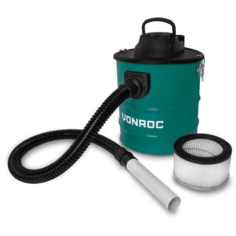 Aspirateur à cendres 1600W - Réservoir de 20L - Câble d'alimentation de 3m – Pour barbecue, foyer et atelier