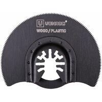 Lot d'accessoires pour outil multifonction - 4 pièces - universel pour outils multifonctions oscillants - bois, plaque de plâtre, plastique, métal