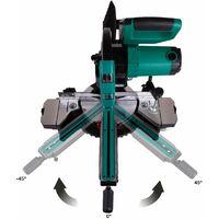 Scie à onglet radiale - 2200W – lame de scie Ø 254 mm 60 dents, laser et LED inclus
