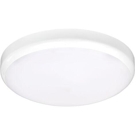 ADELA - Hublot Ext. IP54 IK07, blanc, LED integ. 14W 4000K 1000lm, a/sensor