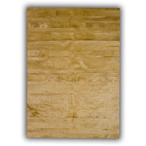 Tapis jaune en peau de vache plat design Clarita Jaune 140x200 - Jaune