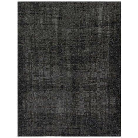 Tapis effet rayé pour salon Grunge Anthracite 200x300 - Anthracite