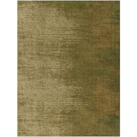 Tapis rayé rectangle pour salon vintage Nuance Olive 200x300 - Olive