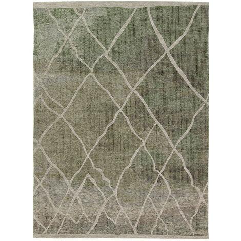 Tapis ethnique pour salon rectangle berbère Rabat Vert 200x300 - Vert