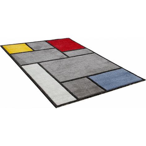 Tapis moderne intérieur rectangle graphique Brighton Multicolore 200x300 - Multicolore