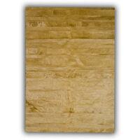 Tapis jaune en peau de vache plat design Clarita Jaune 180x240 - Jaune