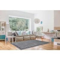 Tapis moderne de terrasse et de salon gris Brescia Gris 155x230 - Gris