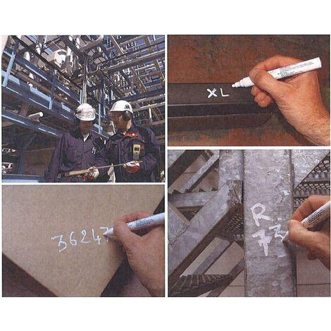 Marqueur Blanc de chantier Toutes Surfaces ORAPI