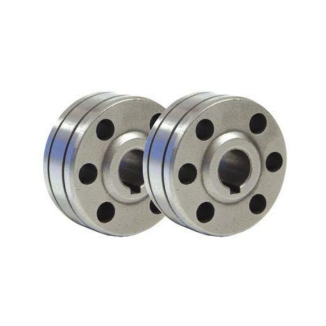 Lot de 2 galets acier type B GYS 0.8/1mm