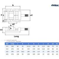Etau perceuse DOLEX 313 - Mors 80mm - Ouverture 70mm