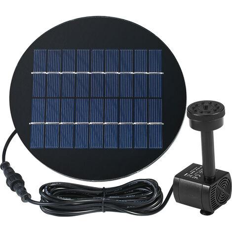 Decdeal 9V 2W panneau solaire a energie solaire Kit Pompe submersible Fontaine brushless eau pour oiseaux bain etang Pull 200L / H 150cm Lift