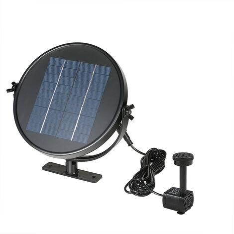 Decdeal 9V 2W Panneau solaire a energie solaire Kit Pompe submersible Fontaine brushless eau