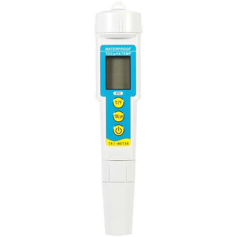 KKmoon Mini Professional 3 en 1 testeur qualite de l'eau multi-parametres Moniteur qualite de l'eau pH et TDS metre acidometre dispositif Analyse qualite de l'eau